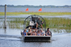 Witness the real Florida on an exhilarating airboat ride as it powers across the water